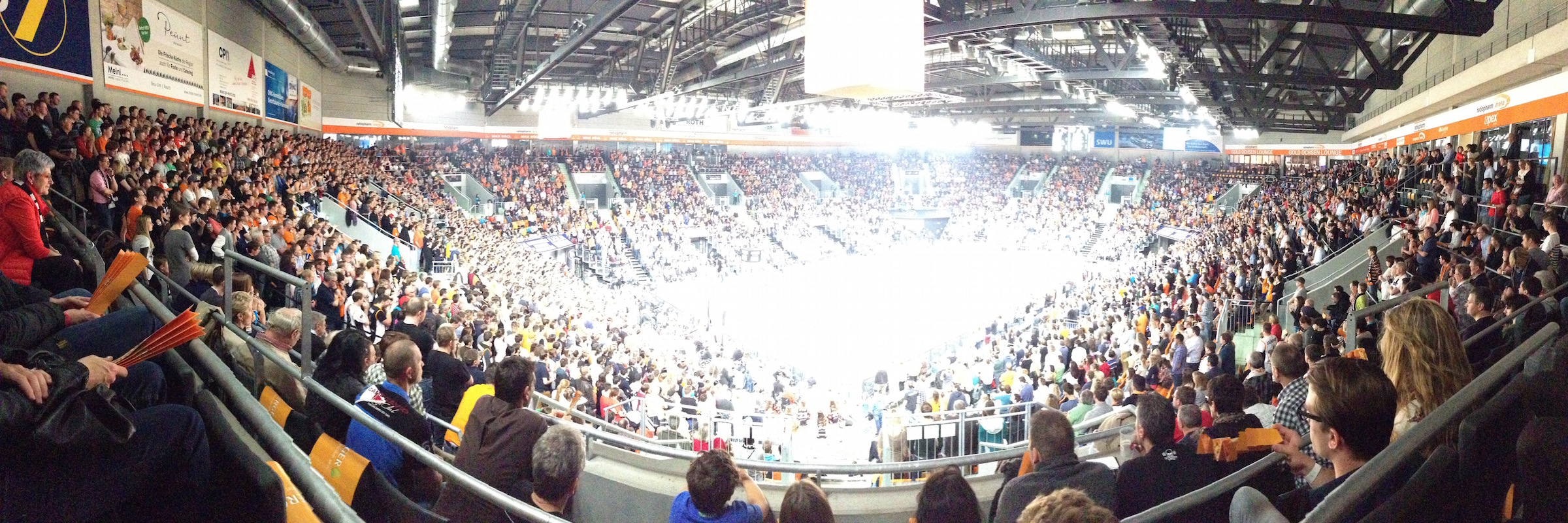 Ratiopharm Ulm Basketball in der Ratiopharm Arena